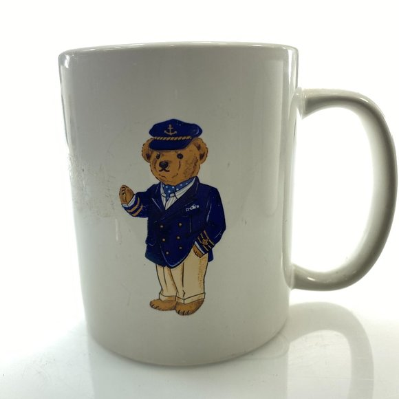 POLO RALPH LAUREN Vintage Mug 90's Captain Bear